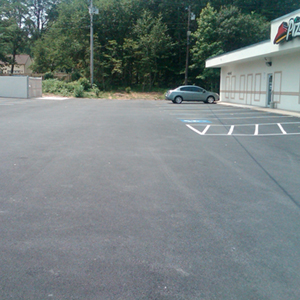 pizza hut parking lot